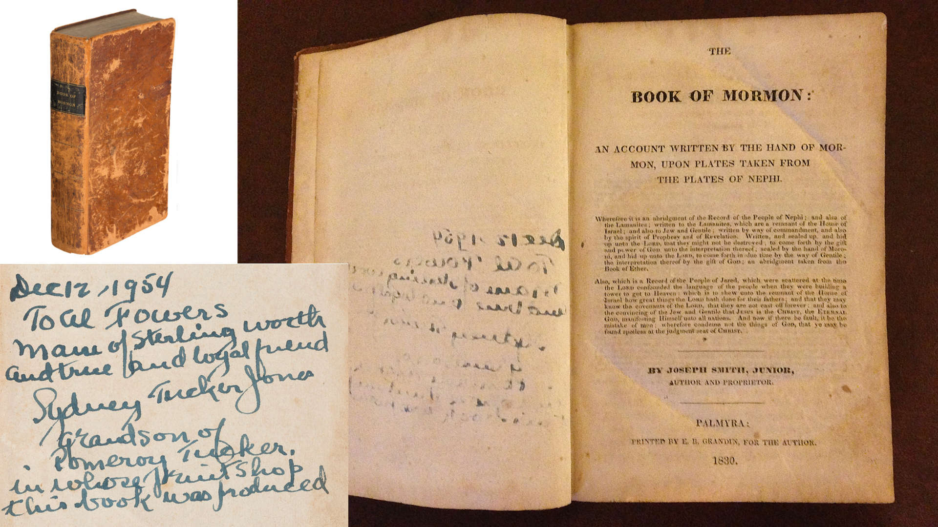 Book of Mormon sold by Fairfax and Page Estate Sales
