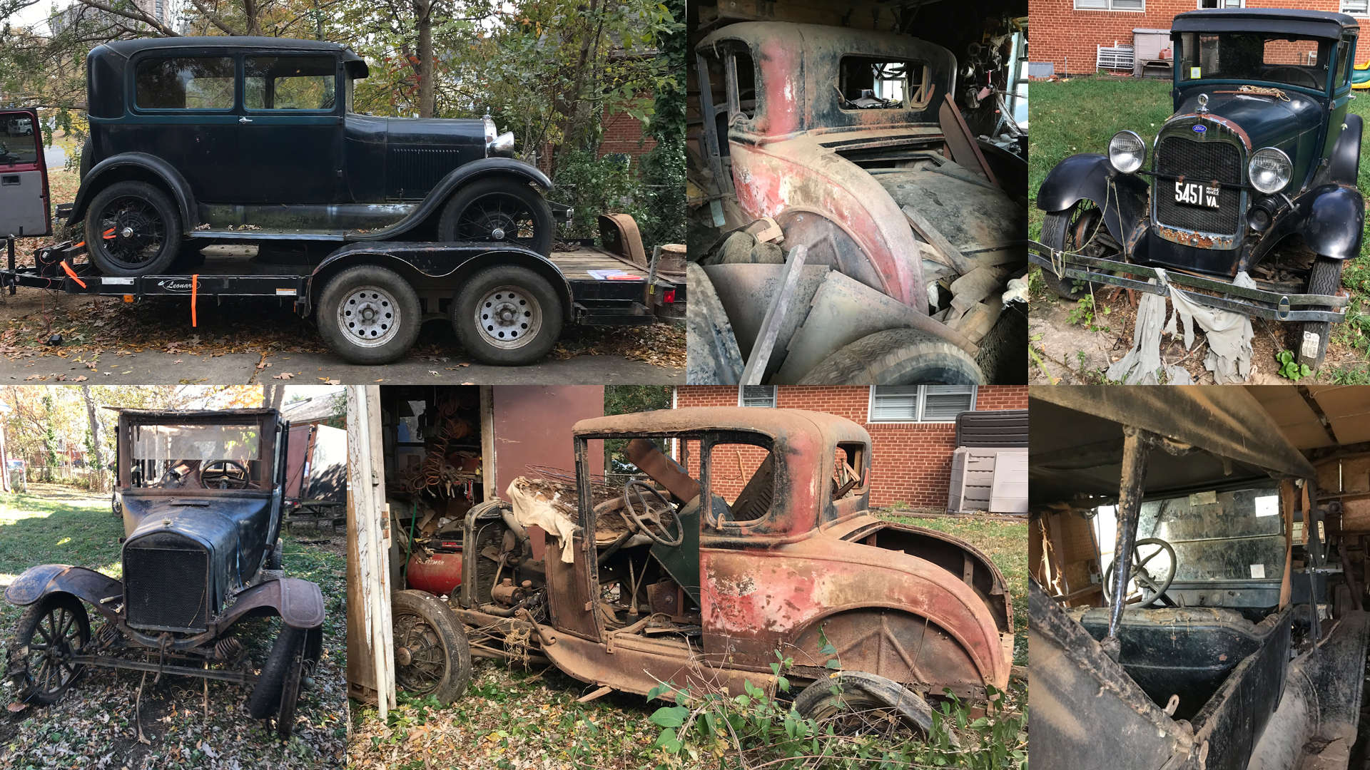antique cars sold by Fairfax and Page Estate Sales