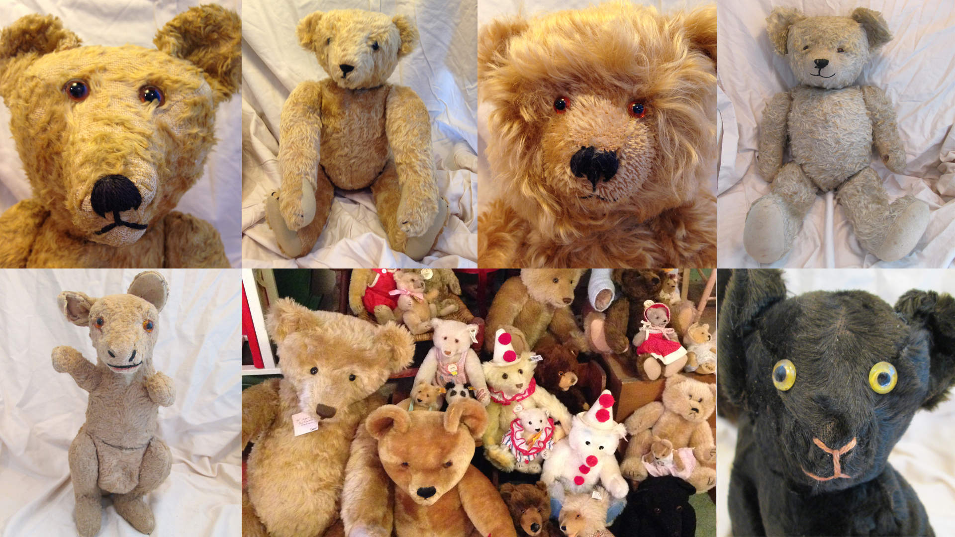 Teddy Bear collection sold by Fairfax and Page Estate Sales.
