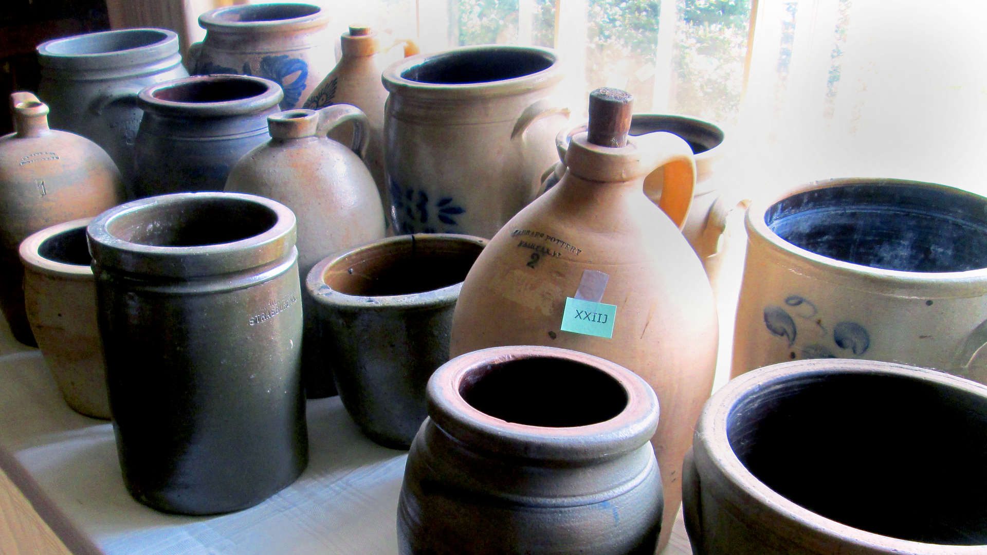 Pottery display Fairfax and Page Estate Sales