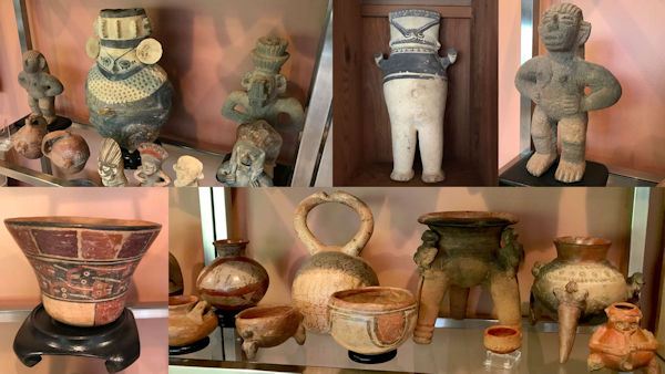 Pre Columbian Artifacts at Fairfax and Page Estate Sales
