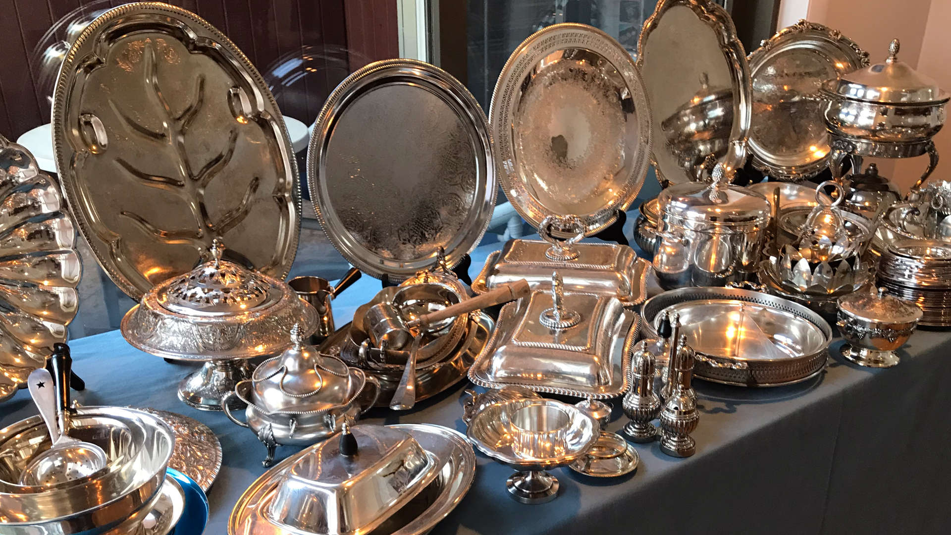 Silver display Fairfax and Page Estate Sales