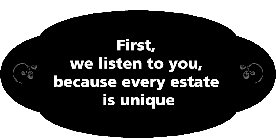 We listen to you at Fairfax and Page Estate Sales